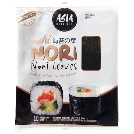 Algi Sushi Nori Premium Gold 10 szt - Asia Kitchen
