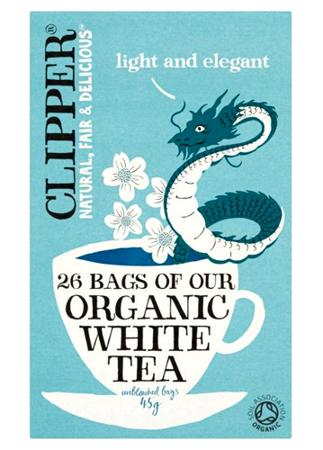 Biała herbata organiczna Clipper, 26 saszetek
