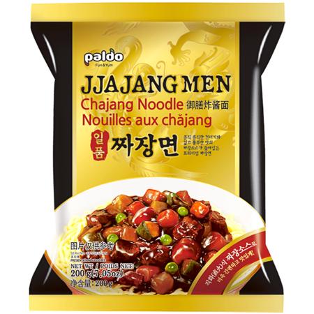 Jjajang Men, makaron z sosem z czarnej fasoli, łagodny 200g - Paldo