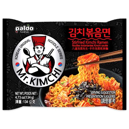 Makaron instant Mr Kimchi Stirfried Ramen, ostry 134g Paldo