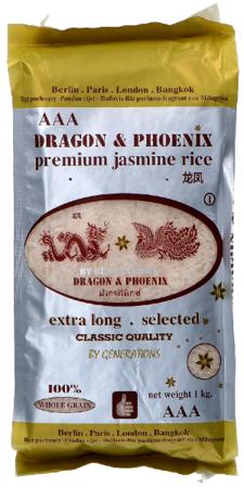 Ryż jaśminowy 1kg AAA Dragon & Phoenix Premium